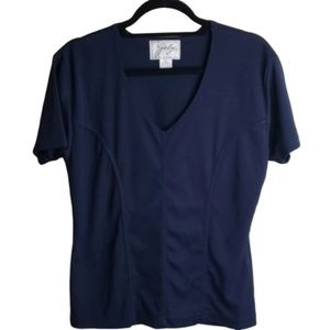 Gaby Shirt Size Large Fitted Short Sleeves